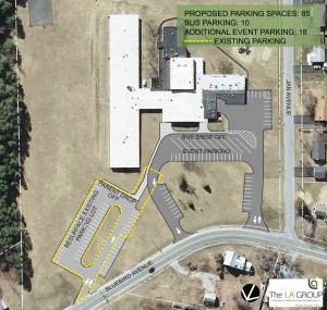 Proposed Moreau Elementary School site plan.