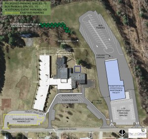 Proposed Harrison Avenue Elementary School site plan.