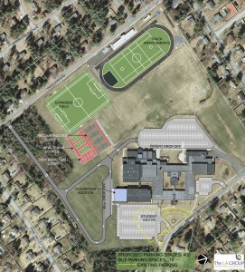 Proposed South Glens Falls High School site plan.
