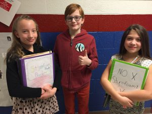 Moreau students who campaigned against foam lunch trays.