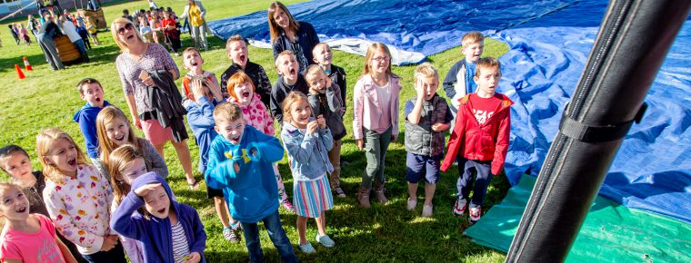 Students learn about hot air balloons at Ballard